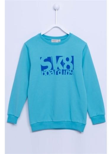 Silversun Kids Sweat Shirt Örme Uzun Kollu Baskılı Sweatshirt Erkek Çocuk Js-312815 Yeşil